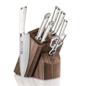 Cangshan S1 Series 1022575 German Steel Forged 8-Piece Knife Block Set, Walnut