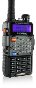 Baofeng Black UV-5R V2+ Plus (USA Warranty) Dual-Band 136-174/400-480 MHz FM Ham Two-way Radio, Improved Stronger Case, Enhanced Features