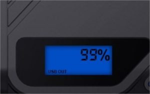 battery level indicator on a DBpower 1200A