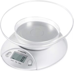 Etekcity Digital Scale with Removable Bowl