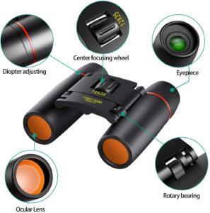 POLDR 12X25 Small Pocket Binoculars