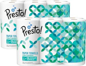 Amazon Brand - Presto! Flex-a-Size Paper Towels