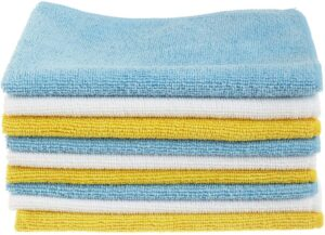 Blue and Yellow Microfiber Cleaning Cloth, 24-Pack